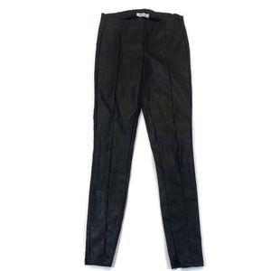 JustFab Black Pleather Skinny Pants FF